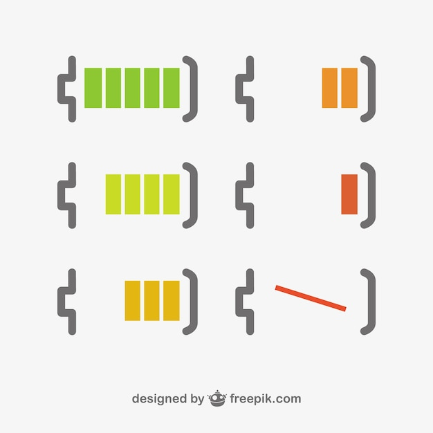 Battery level minimal design  Free Vector