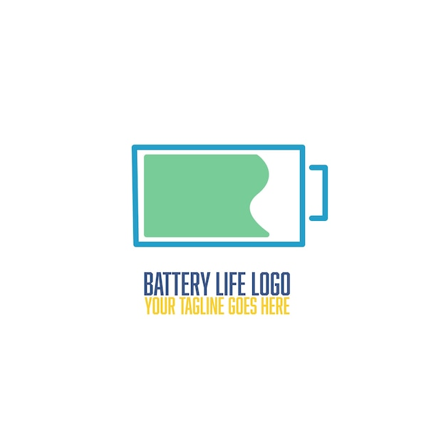 Battery life logo Free Vector