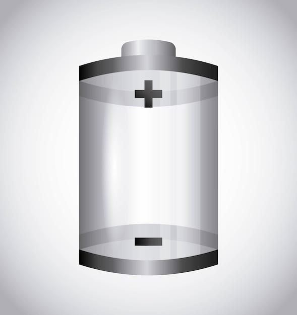 Battery power design Premium Vector