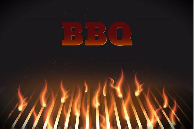 Bbq fire grille eps 10 Premium Vector