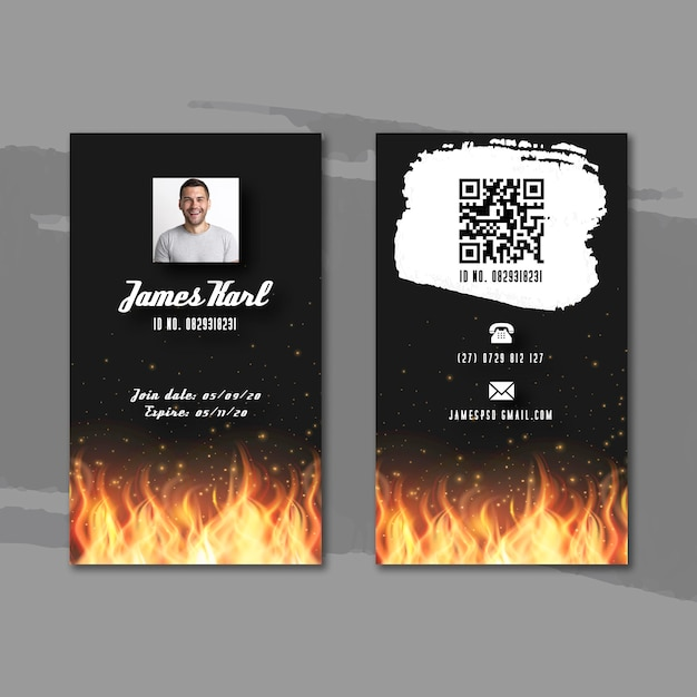 Bbq id card template Free Vector