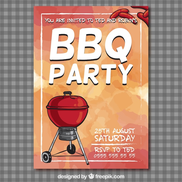 Bbq Party Flyer Vector  Free Download