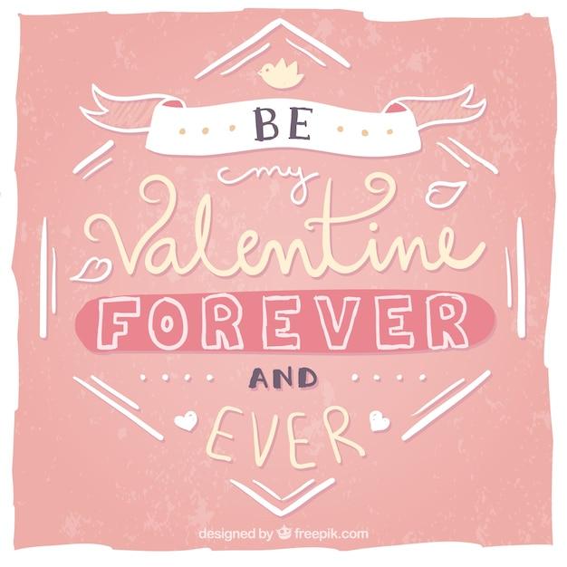 Be my Valentine message