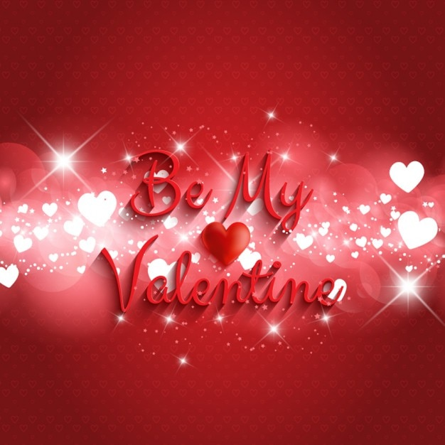 Be My Valentine Phrase Bright Background Free Vector