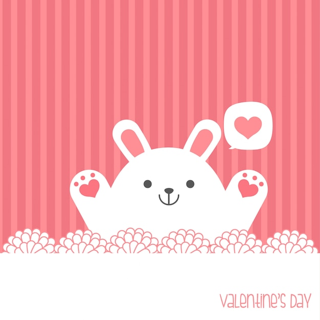Be my valentine. valentine's day banner, background, flyer, placard with cute animals. holiday poster for scrapbooking. vector template card for greeting, decoration, congratulation, invitation Premium Vector