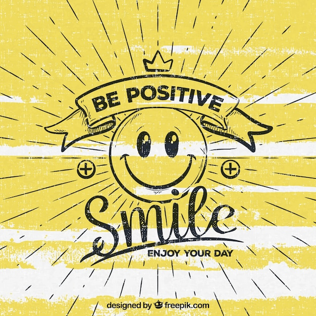 Be positive background Free Vector