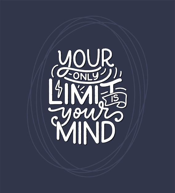 Будь сам надписью слогана. смешная цитата для блога, плаката и печати. современная каллиграфия текста о самообслуживании. Premium векторы