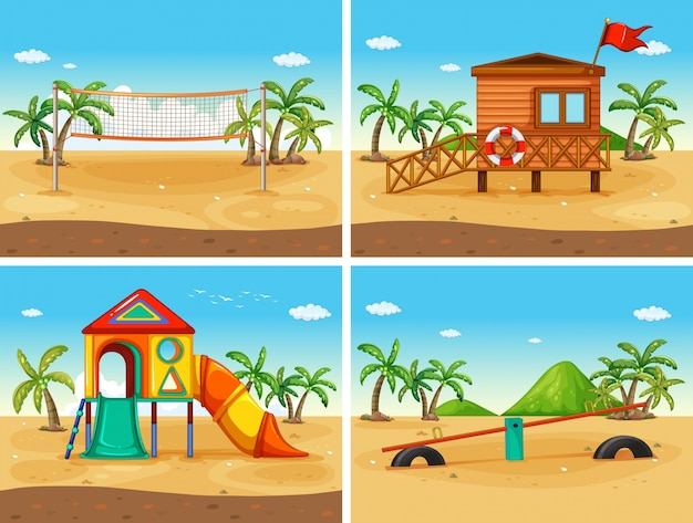 Beach and playground