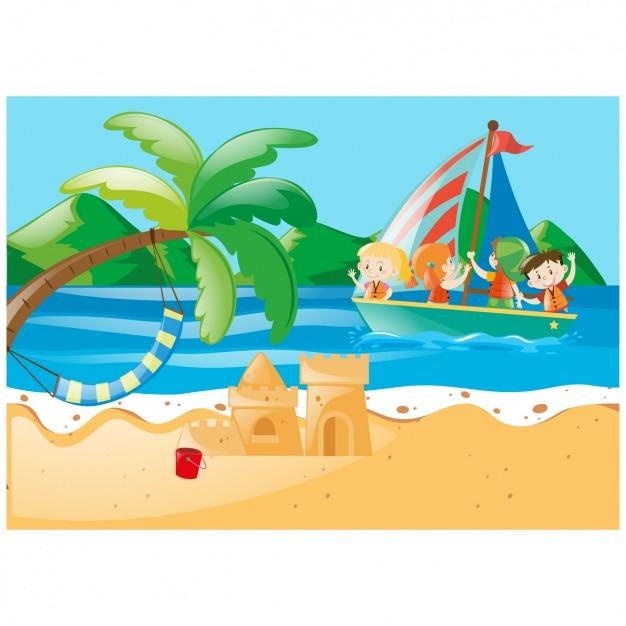 download vector beach background design vectorpicker