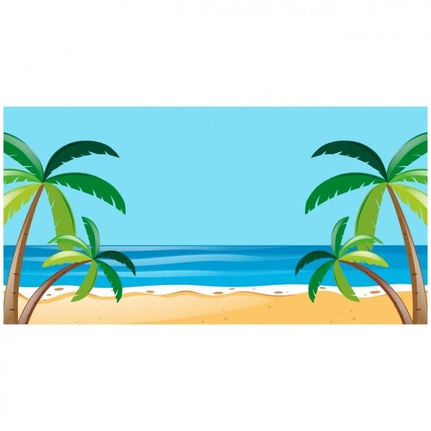 beach background design vector free download