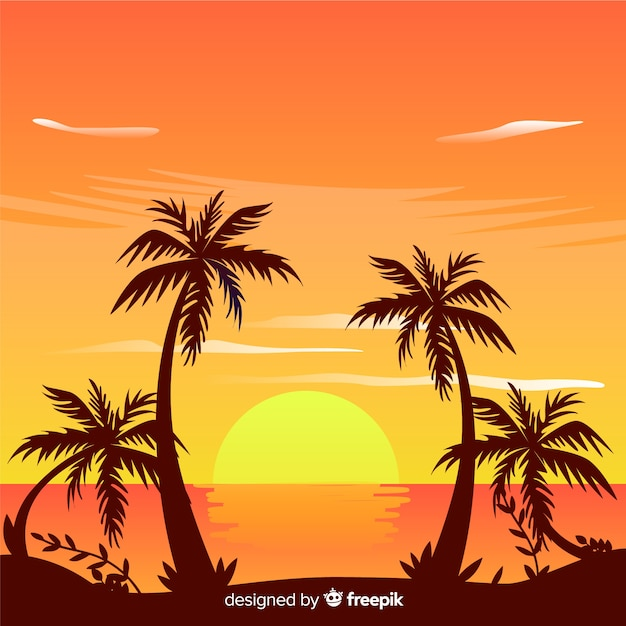 Beach background Free Vector