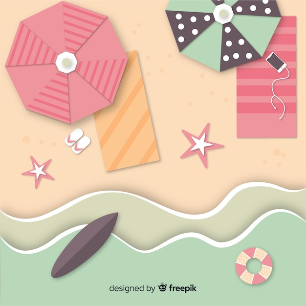 Beach background Free Vector
