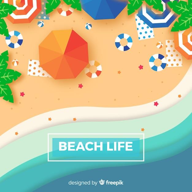 Пляжный фон Бесплатные векторы