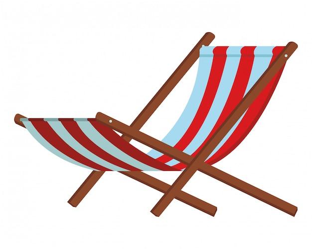Beach chair icon Vector   Premium Download
