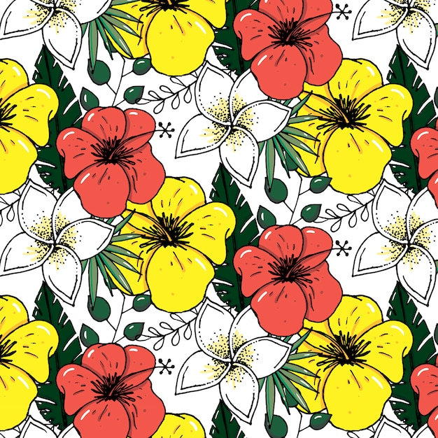 Premium Vector Beach Cheerful Pattern Wallpaper Of Tropical Dark Green Leaves