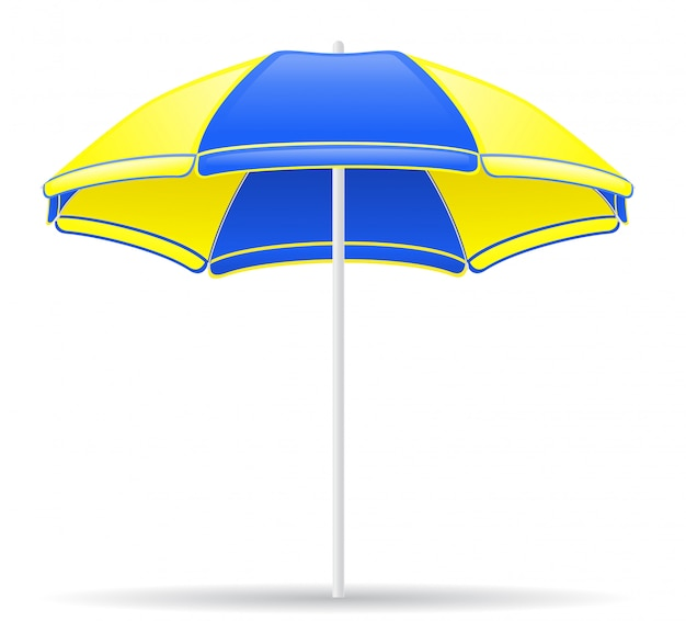 Beach color umbrella Premium Vector