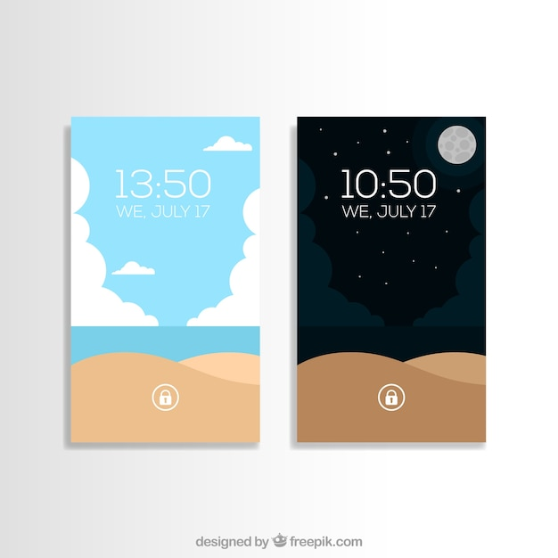 Beach landscape mobile wallpapers