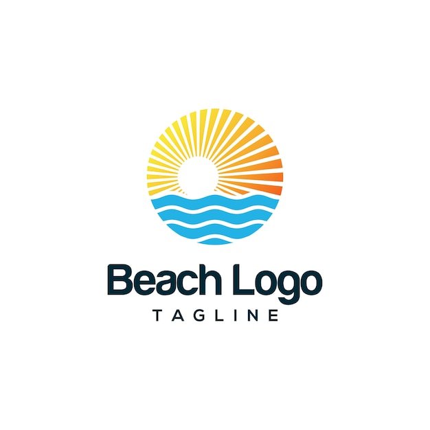 Beach logo design Vector | Premium Download