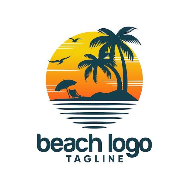 Beach logo vector template Vector | Premium Download