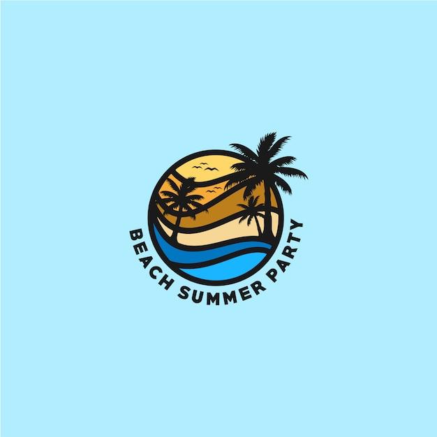 Beach logo | Premium Vector