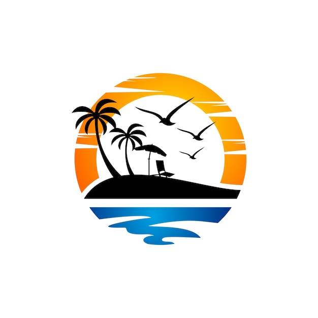 Beach logo Vector | Premium Download