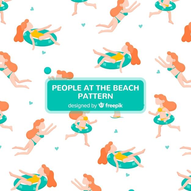 Beach pattern Free Vector