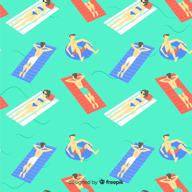 Beach pattern Free Vector