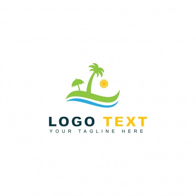 beach travel logo vector | free download