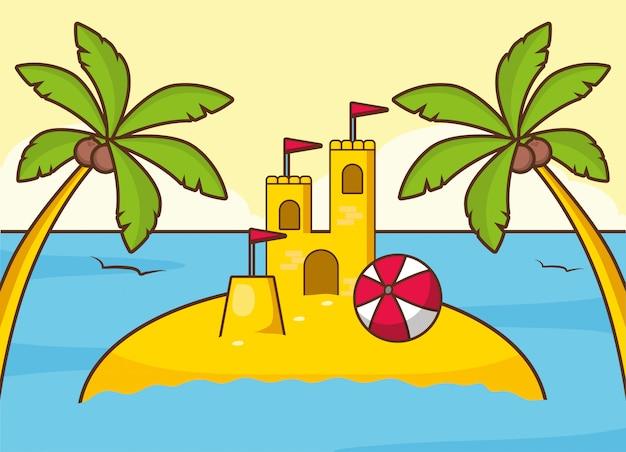 Beach vacations Free Vector