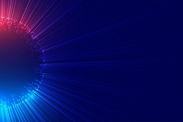 Луч света, вспыхивающий технологии Бесплатные векторы