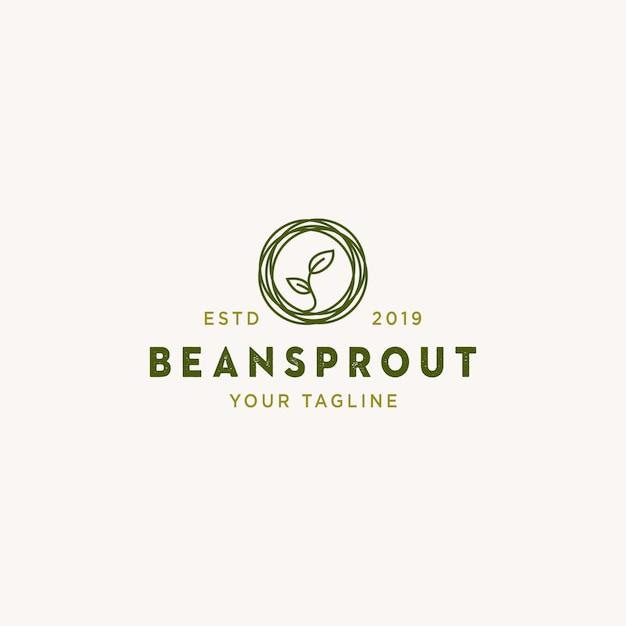 Beansprout logo Premium Vector