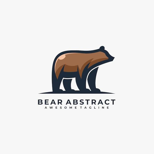 Bear abstract pose illustration. Premium Vector