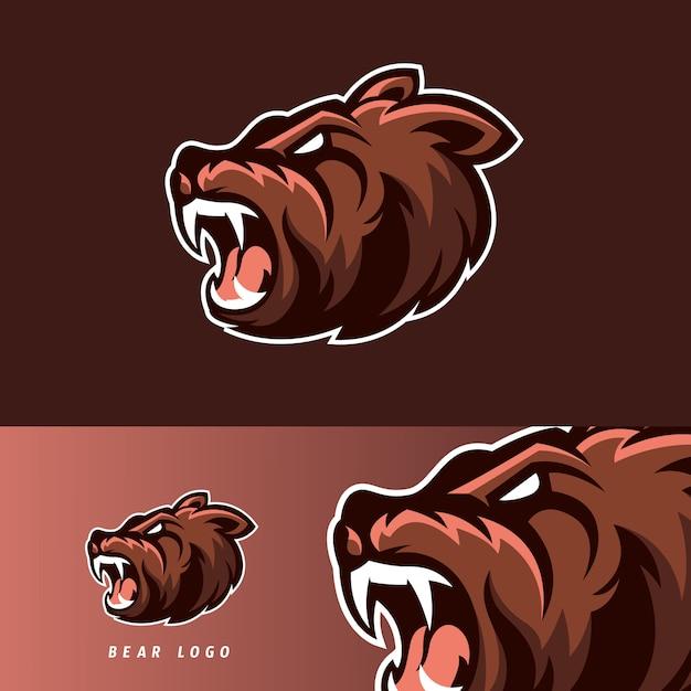 Bear esport gaming mascot emblem Premium Vector