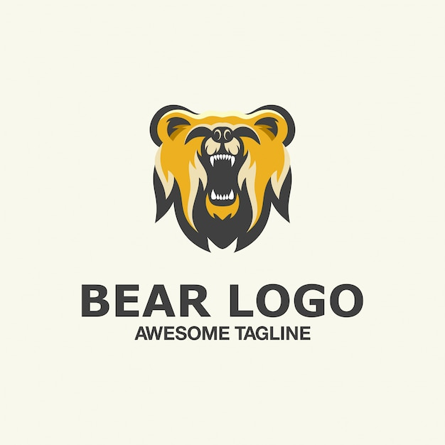 Bear esport logo awesome inspiration Premium Vector