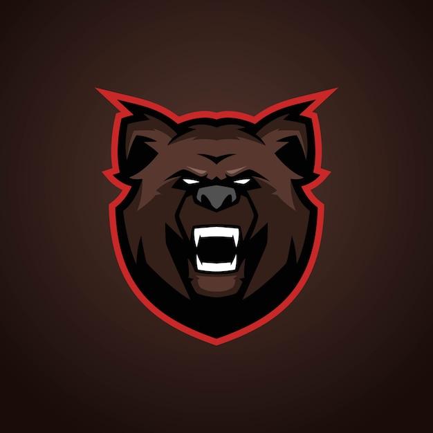 Bear esportsロゴ Premiumベクター