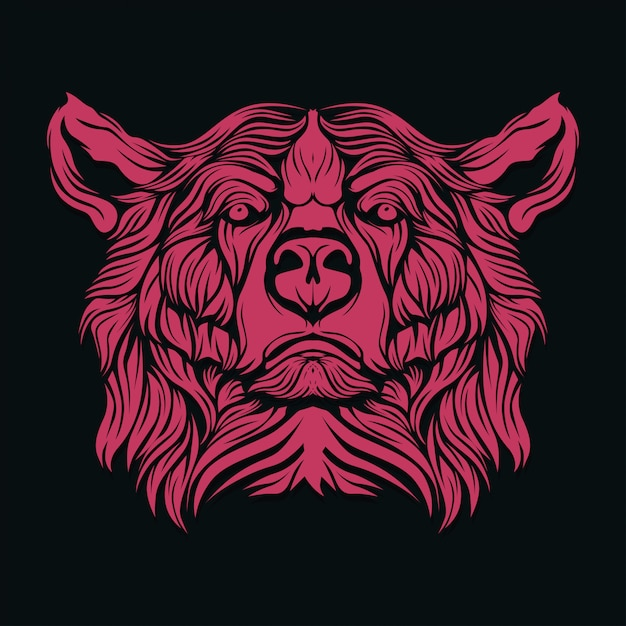 Bear face Premium Vector