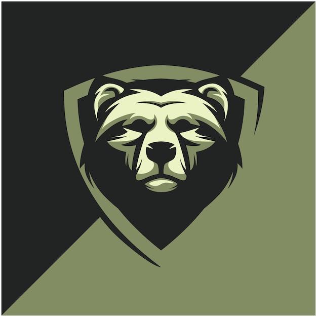 Bear head logo for sport or esport team. Premium Vector