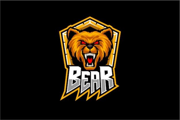 Bear head vector mascot Premium Vector