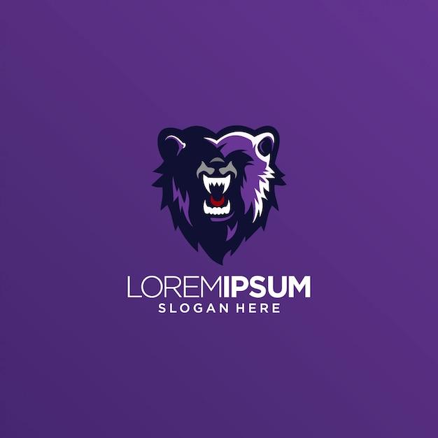 Bear lion tiger logo vector Premium Vector