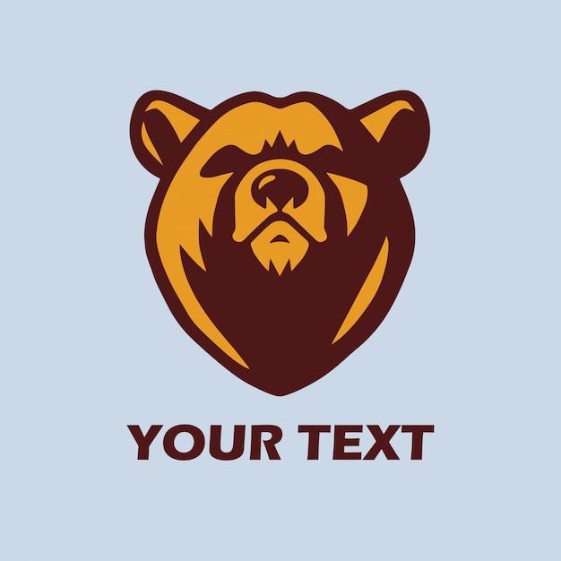 Bear logo template vector mascot design Vector   Premium
