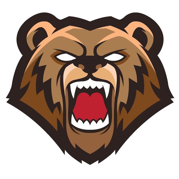 クマのロゴ Premiumベクター