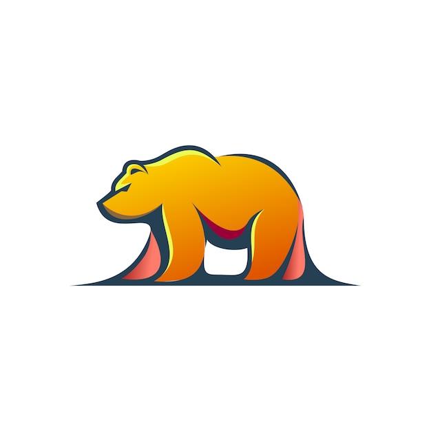 Bear modern logo Premium Vector