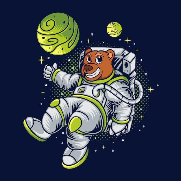 Bear space Premium Vector