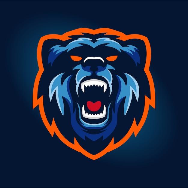 bear sports logo concept vector premium download