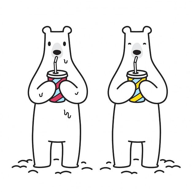 Bear vector polar bear icon Premium Vector