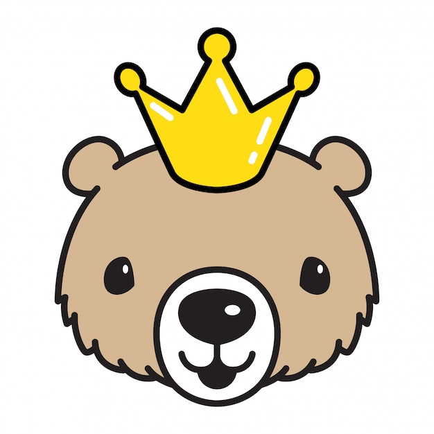 Premium Vector Bear Vector Polar Bear King Crown Cartoon Europe euclidean plot crown, crown, king crown, retro, happy birthday vector images png. https www freepik com profile preagreement getstarted 3303195