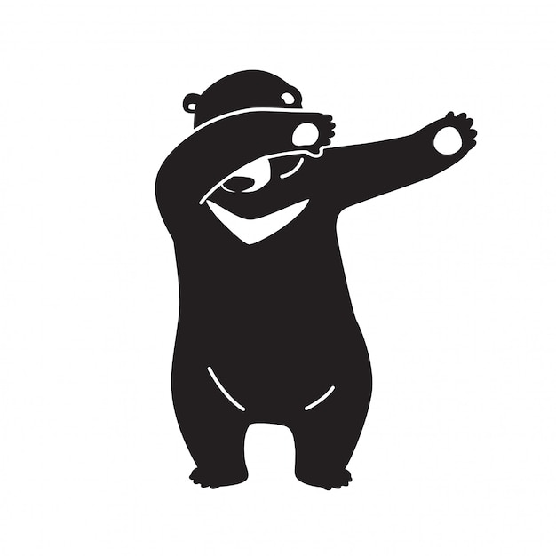 Bear vector polar dab dance Premium Vector