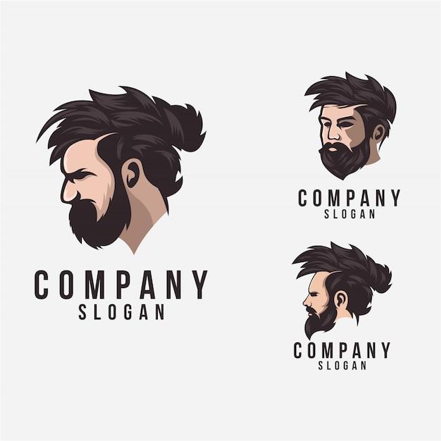 Beard logo Premium Vector