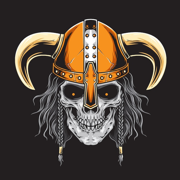 Bearded viking vector Premium Vector