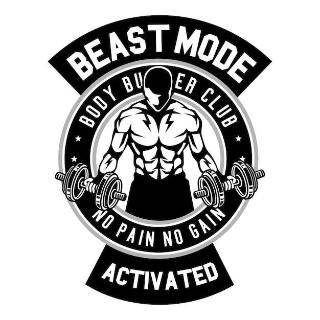 Beast Mode Activated Vector Premium Download